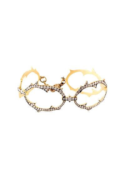 Sylva & Cie - 18K Yellow Gold Diamond Spike Bracelet