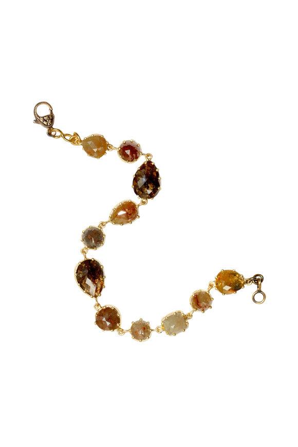 Sylva & Cie 18K Yellow Gold Rough Diamond Bracelet