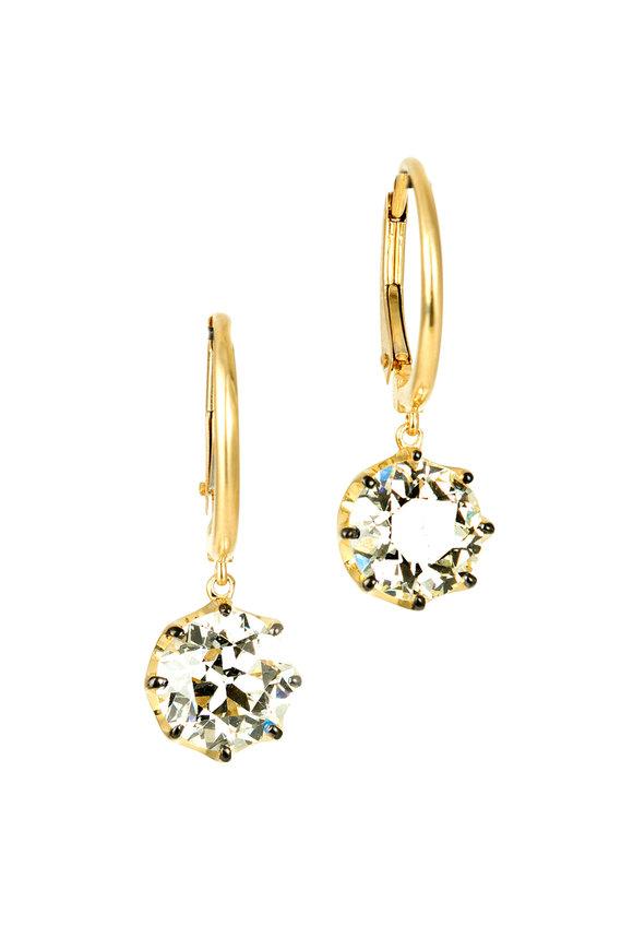 Sylva & Cie 18K Yellow Gold Old European Cut Diamond Earrings