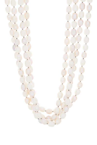 Patricia von Musulin - Silver Ebony & Pearl Multi Strand Necklace