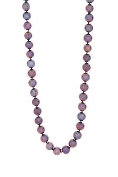 Patricia von Musulin - Sterling Silver Gray Pearl Necklace