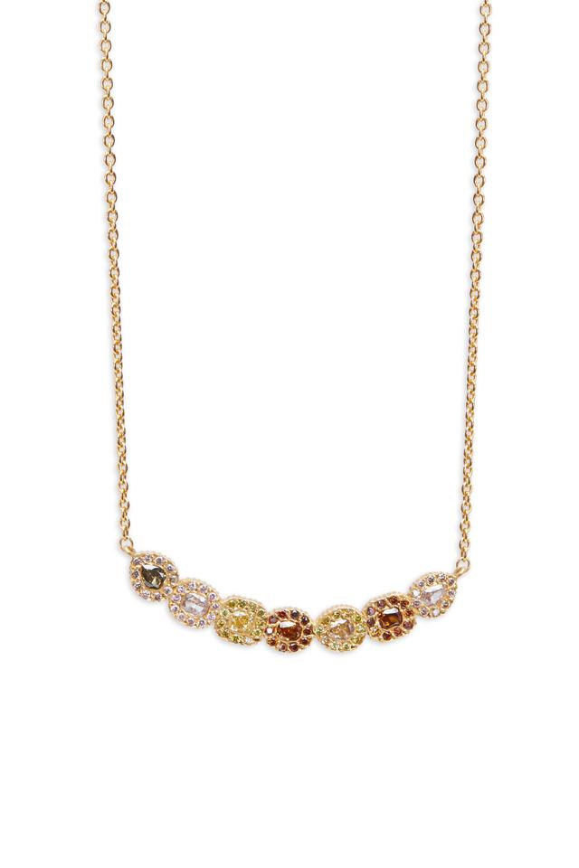 Clara Gold Gemstone Diamond Necklace