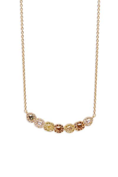 Yossi Harari - Clara Gold Gemstone Diamond Necklace
