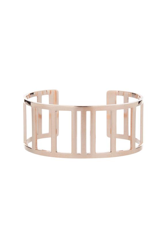 Genevieve Lau 14K Rose Gold Open Work Rectangle Cuff Bracelet