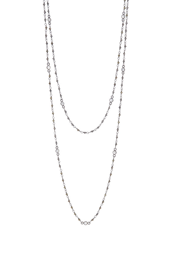 LORIANN Sterling Silver Tiny Pyrite Chain