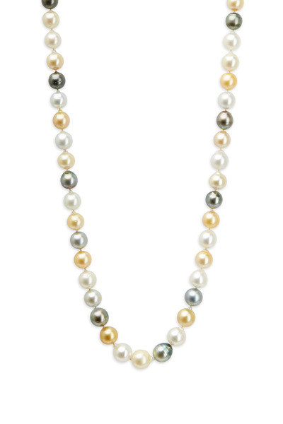 Kathleen Dughi - White Gold Baroque Pearl Strand Necklace