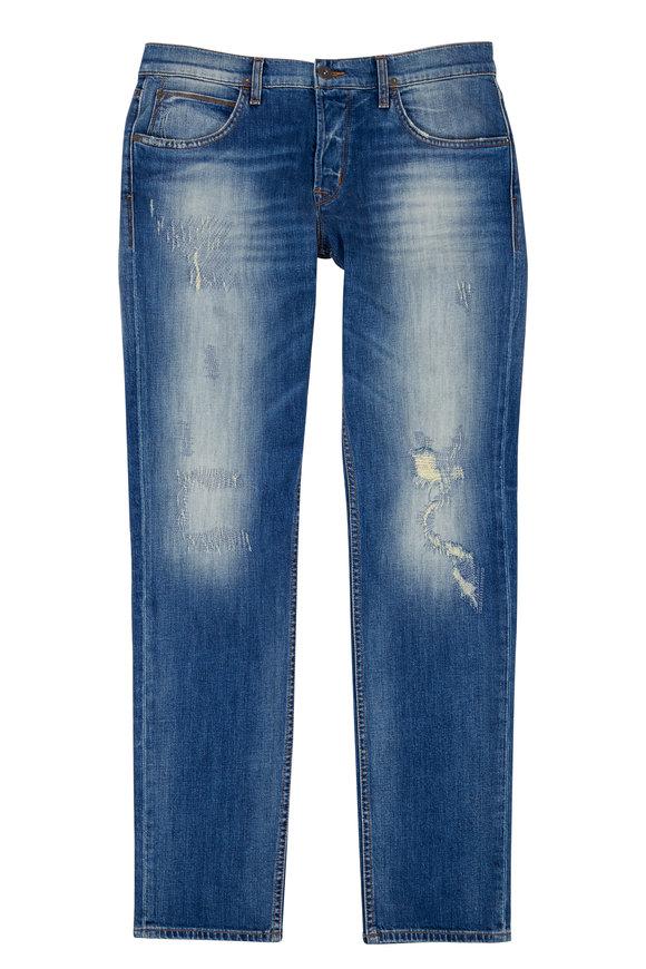 Hudson Clothing Blake Slim Straight Distressed Jean