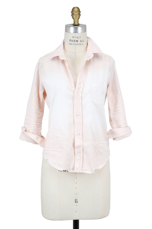 Frank & Eileen Barry Stonewashed Light Pink Button Down
