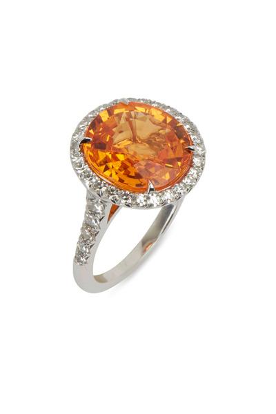 Eclat - Platinum Mandarin Garnet & Diamond Ring