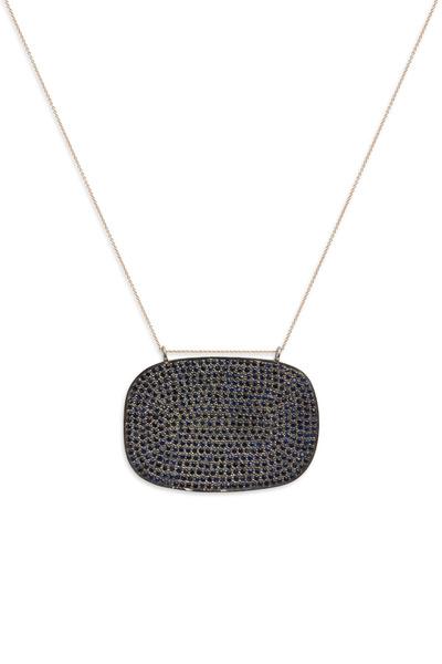 Tulah Jem - Rose Gold Pavé-Set Blue Sapphire Pendant