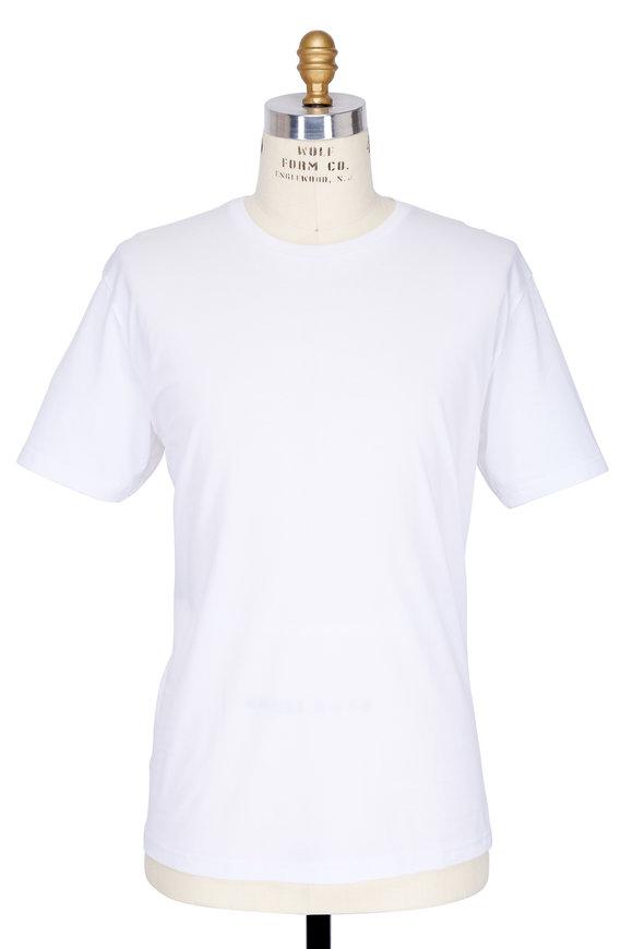 Handvaerk White Pima Cotton Crewneck T-Shirt
