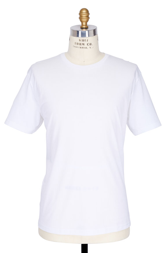 Handvaerk White Pima Cotton Crewneck T-Shirt