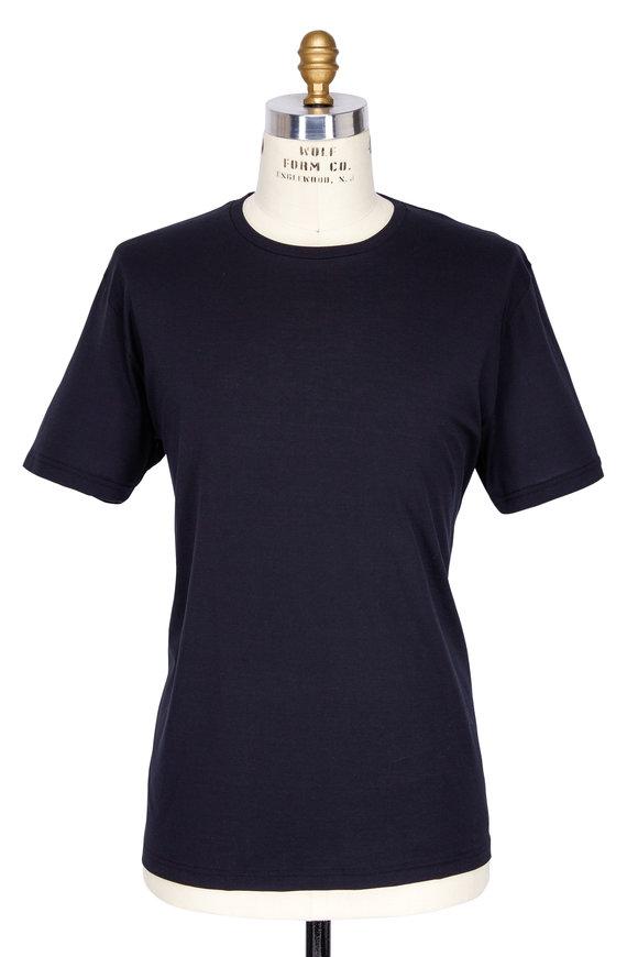 Handvaerk Black Pima Cotton Crewneck T-Shirt