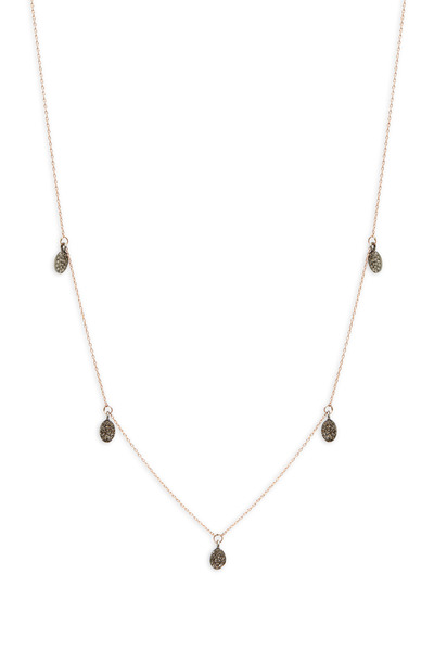 Tulah Jem - Rose Gold Pavé-Set Drop Bead Necklace