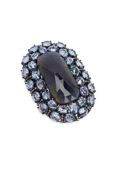 Sutra - 18K White Gold & Sapphire & Diamond Ring
