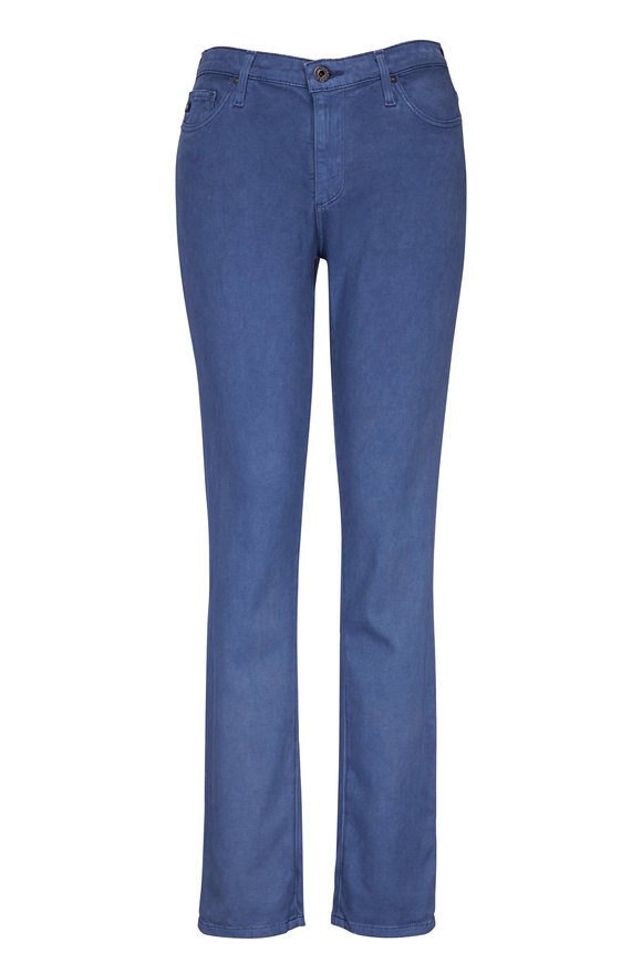 AG - Adriano Goldschmied The Prima Stretch Sateen Mid-Rise Cigarette Pant