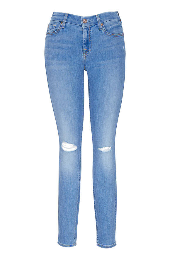 7 For All Mankind B(air) Ankle Skinny Destroy Jean