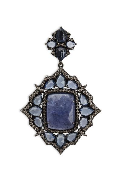 Sutra - White Gold Tanzanite Sapphire Diamond Pendant