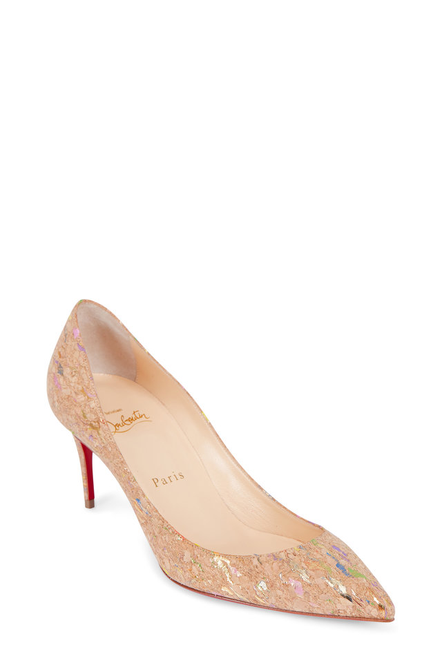 christian louboutin decollete lame