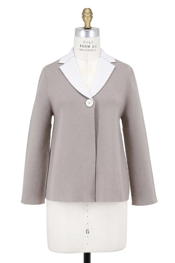 Iris von Arnim Renee Dove & Ivory Double-Faced Cashmere Jacket