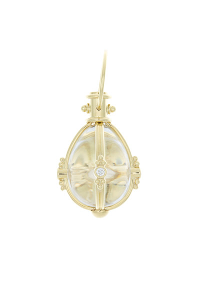 Temple St. Clair - Yellow Gold Crystal & Diamond Amulet