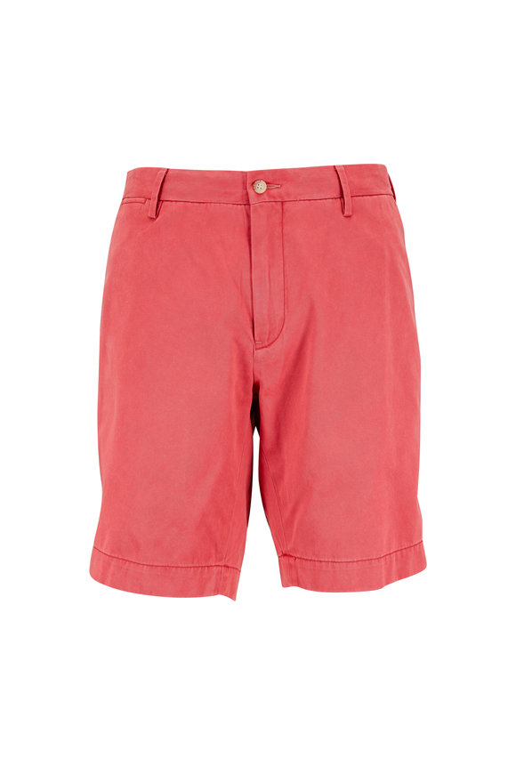Polo Ralph Lauren Newport Red Cotton Twill Shorts