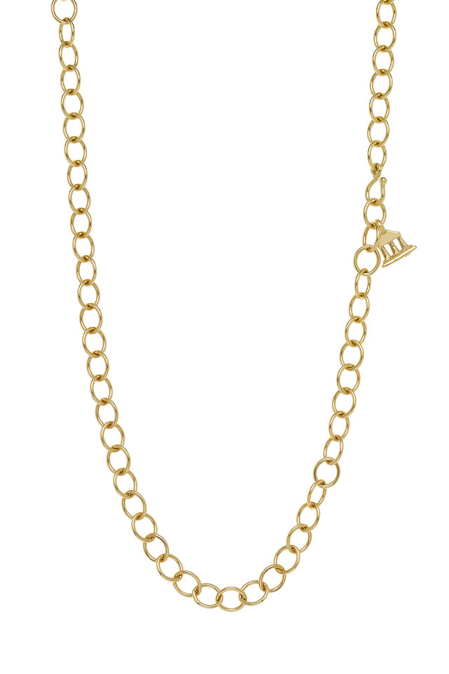 18K Yellow Gold Oval Link Chain