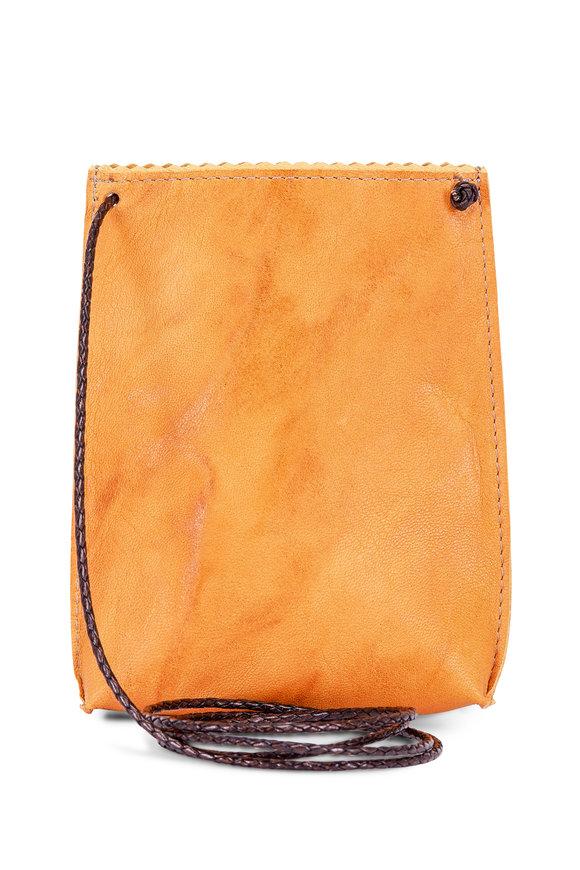 B May Bags Saffron Sheepskin Cell Pouch