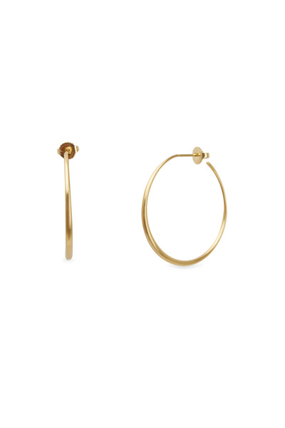 Caroline Ellen - Yellow Gold Large Tapered Hoop Earrings