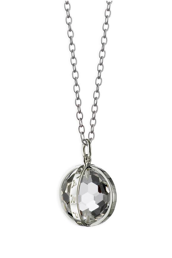 Monica Rich Kosann Sterling Silver Crystal Carpe Diem Necklace