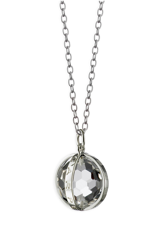 Sterling Silver Crystal Carpe Diem Necklace