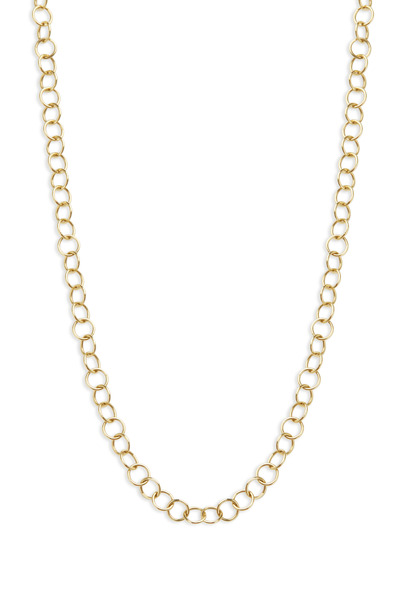 Temple St. Clair - Yellow Gold Round Link Chain Necklace