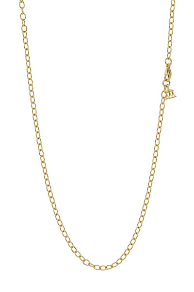 Temple St. Clair - 18K Yellow Gold X-Small Oval Link Chain