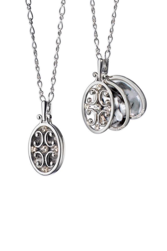 Sterling Silver Gate Locket Necklace