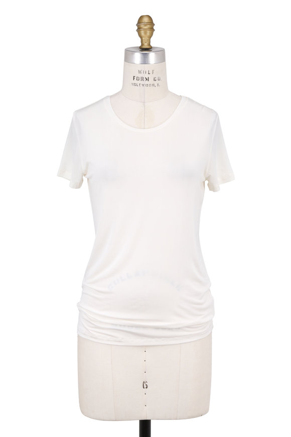 Majestic Milk Stretch Short Sleeve Crewneck T-Shirt