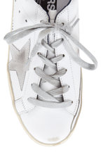 Golden Goose - Women's Superstar White Leather Navy Trim Sneaker