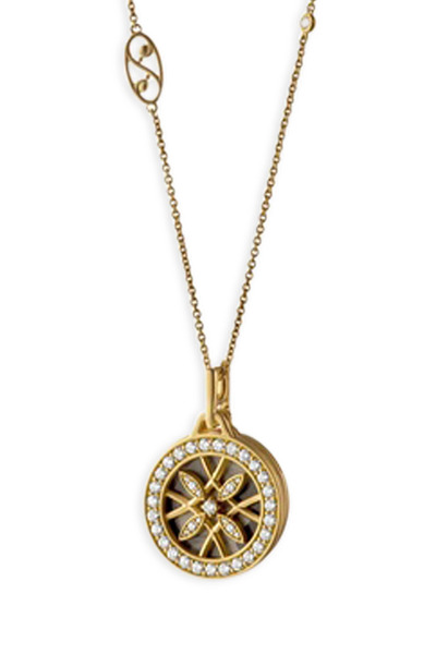 Monica Rich Kosann - Yellow Gold Diamond Gate Necklace