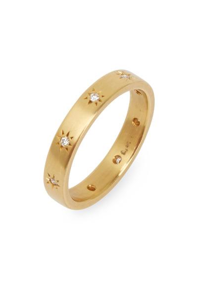 Caroline Ellen - Yellow Gold Star Diamond Ring