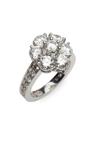 Graff - Platinum White Diamond Cluster Ring