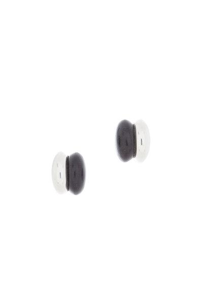 Patricia von Musulin - Sterling Silver Ebony Inlay Earrings