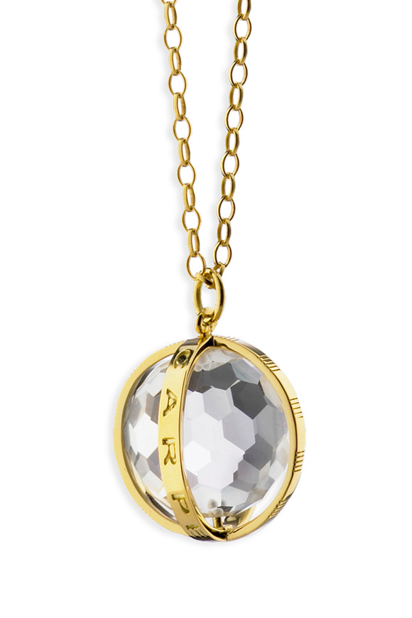 Monica Rich Kosann 18K Yellow Gold Carpe Diem Charm Necklace