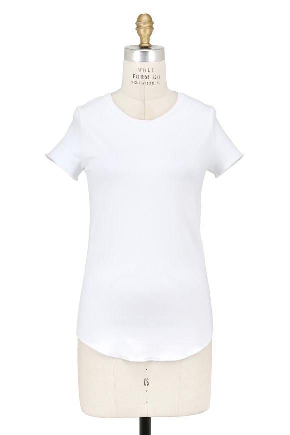 Majestic White Short Sleeve Crewneck Top