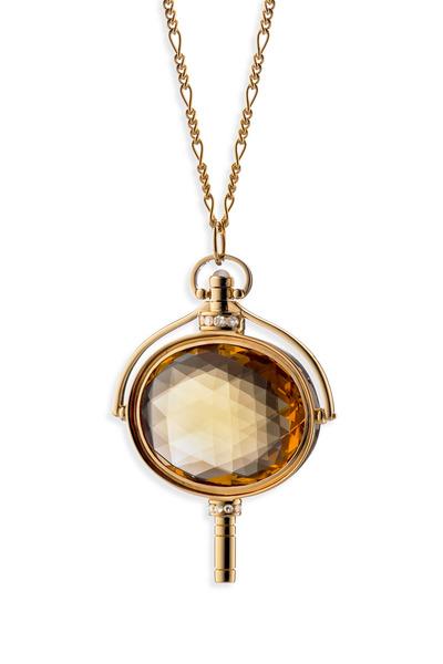 Monica Rich Kosann - Yellow Gold Oval Pocketwatch Key Necklace