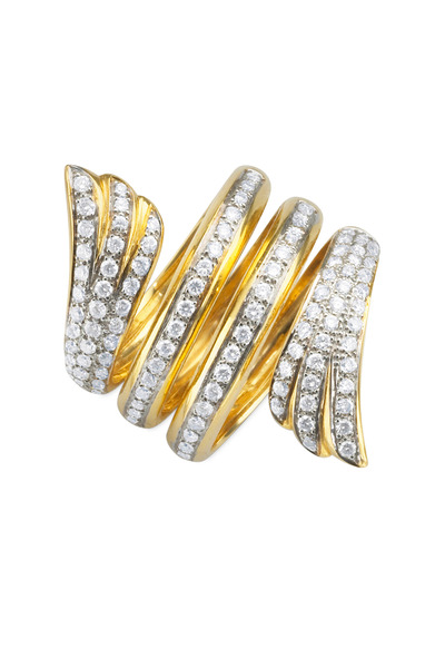 Monica Rich Kosann - Yellow Gold Mercury Wrap Diamond Ring