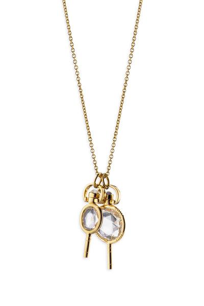 Monica Rich Kosann - 18K Yellow Gold Miniature Key Charm Necklace