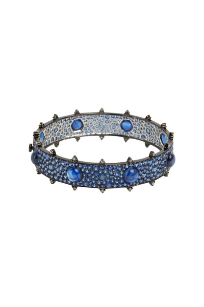 Nam Cho - 18K White Gold Sapphire & Kyanite & Diamond Bangle