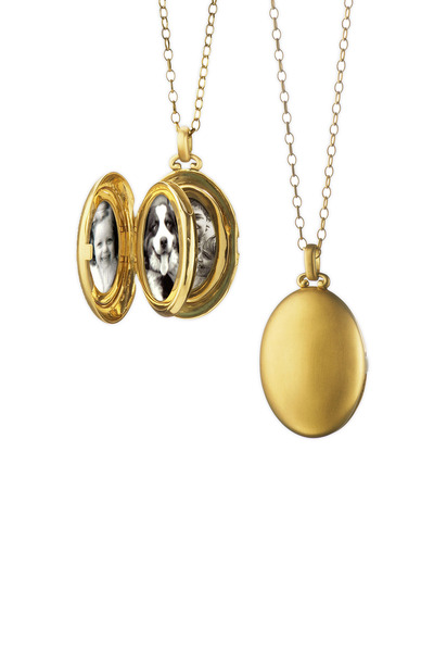 Monica Rich Kosann - Yellow Gold Oval Locket Necklace