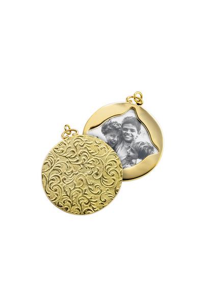 Monica Rich Kosann - Yellow Gold Vine Design Locket Case Pendant
