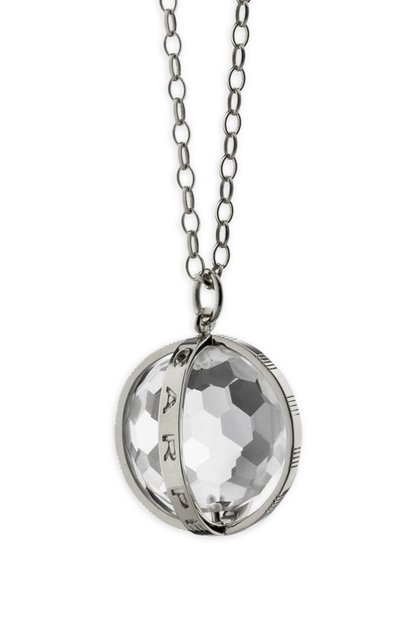 "Monica Rich Kosann Sterling Silver ""Carpe Diem"" Charm Necklace"