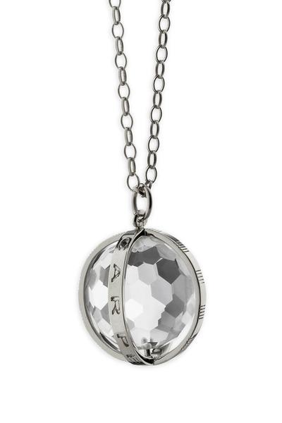 "Monica Rich Kosann - Sterling Silver ""Carpe Diem"" Charm Necklace"